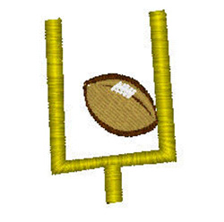 Football Goal embroidery design