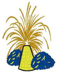 Pom Fireworks embroidery design