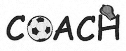 Soccer Coach embroidery design