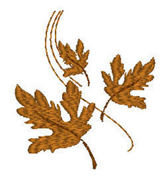 Windy Leaves embroidery design