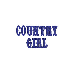 Country Girl embroidery design