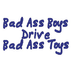 Bad Ass Boys embroidery design