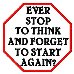 Stop To Think embroidery design