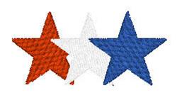 Patriotic Stars embroidery design