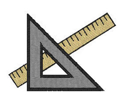 Protractor And Ruler embroidery design