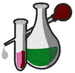 Chemistry  Beakers embroidery design
