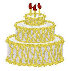 Three Tier Cake embroidery design