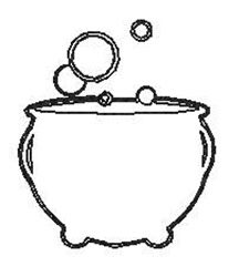 Witches Brew Outline embroidery design