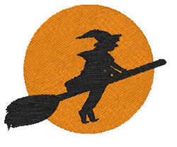 Flying Witch embroidery design