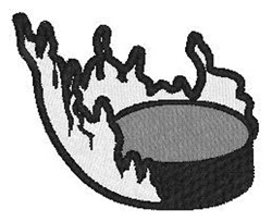 Hockey Puck embroidery design