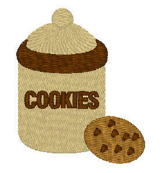 Cookie Jar And Cookie embroidery design