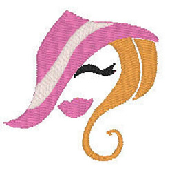 Pink Hat Lady embroidery design