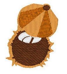 Coconut With Umbrella embroidery design