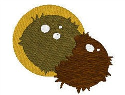 Two coconuts embroidery design