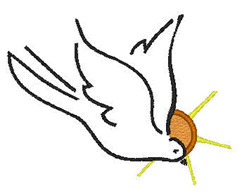 Dove And Sunset embroidery design