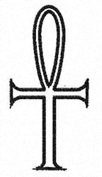 Egyptian Ankh embroidery design