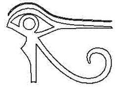 Eye of Ra embroidery design