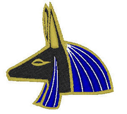 Head Of Anubis embroidery design