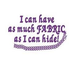 Hide Fabric embroidery design