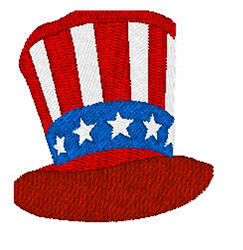 American Hat embroidery design