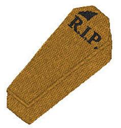 Coffin RIP embroidery design