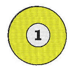 Billiards 1 Ball embroidery design