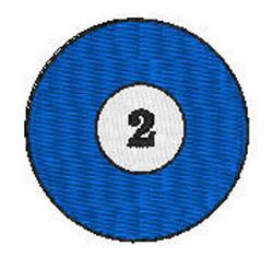 Billiards 2 Ball embroidery design