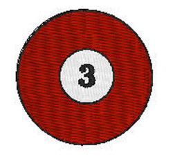 Billiards 3 Ball embroidery design