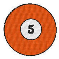 Billiards 5 Ball embroidery design