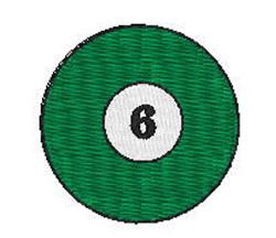 Billiards 6 Ball embroidery design