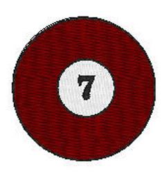 Billiards 7 Ball embroidery design