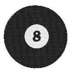 Billiards 8 Ball embroidery design