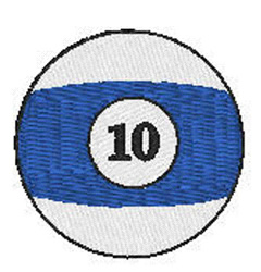 Billiards 10 Ball embroidery design