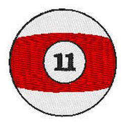 Billiards 11 Ball embroidery design