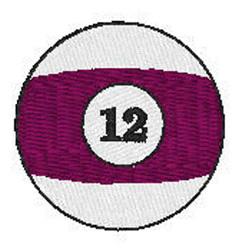 Billiards 12 Ball embroidery design