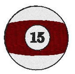 Billiards 15 Ball embroidery design
