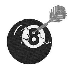Eight Ball With Dart embroidery design