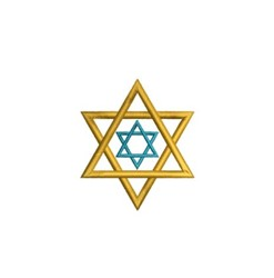 Double Star of David embroidery design