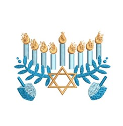 Hanukkah Collage embroidery design