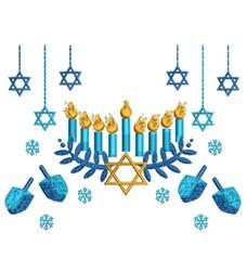Chanukah Scene embroidery design