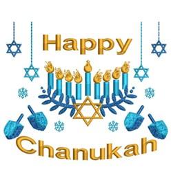 Happy Chanukah Scene embroidery design