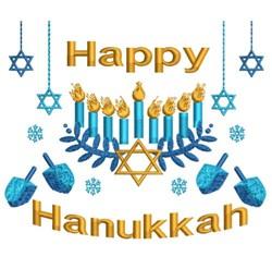 Happy Hanukkah Collage embroidery design