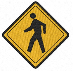 Pedestrian Crossing embroidery design