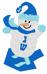 Snowman And Dreidel embroidery design