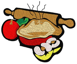 Apple Pie Scene embroidery design