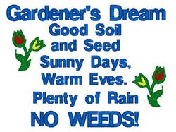 Gardeners Dream embroidery design