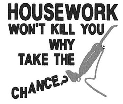 Housework embroidery design