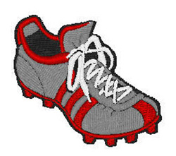 Soccer Cleat embroidery design
