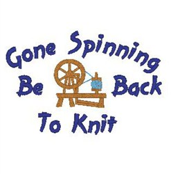 Gone Spinning embroidery design