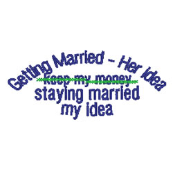Getting Married embroidery design
